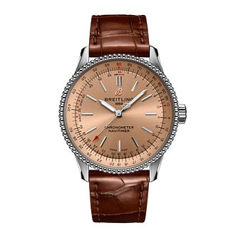 Breitling Navitimer Automatic 35 Ladies' Leather Strap Watch - Product number 3863301