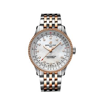 Breitling Navitimer 35 Diamond Two Tone Bracelet Watch - Product number 3863409