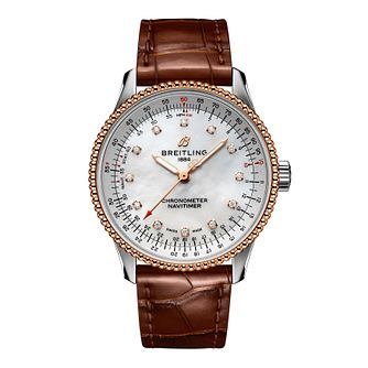 Breitling Navitimer Automatic 35 Ladies' Bracelet Watch - Product number 3863514
