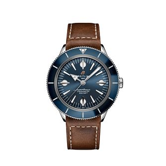 Breitling Superocean Heritage '57 Men's Leather Strap Watch - Product number 3863794