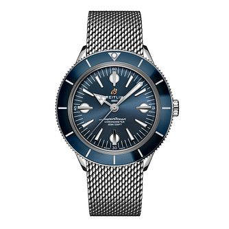 Breitling Superocean Heritage '57 Men's Mesh Bracelet Watch - Product number 3863808
