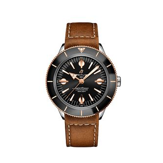 Breitling Superocean Heritage '57 Men's Leather Strap Watch - Product number 3863816