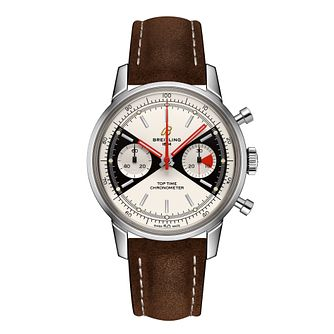 Breitling Top Time Limited Edition Brown Leather Strap Watch - Product number 3863867