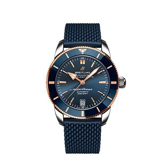 Breitling Superocean Heritage Men's Blue Leather Strap Watch - Product number 3863921
