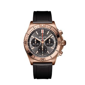 Breitling Chronomat Anthracite Men's Rubber Strap Watch - Product number 3863972