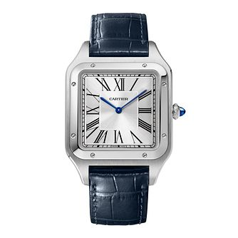 Cartier Santos-Dumont Men's Blue Leather Strap Watch - Product number 3864375