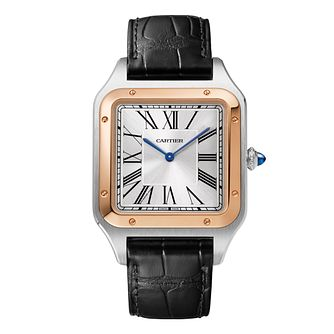 Cartier Santos-Dumont Men's Black Leather Strap Watch - Product number 3864383