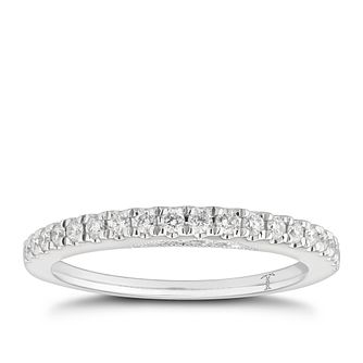 Tolkowsky 18ct White Gold 0.25ct Diamond Band - Product number 3865002