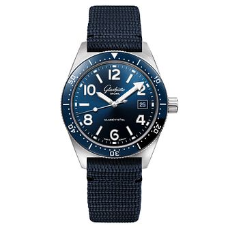 Glashutte Original SeaQ Men's Blue Fabric Strap Watch - Product number 3865932