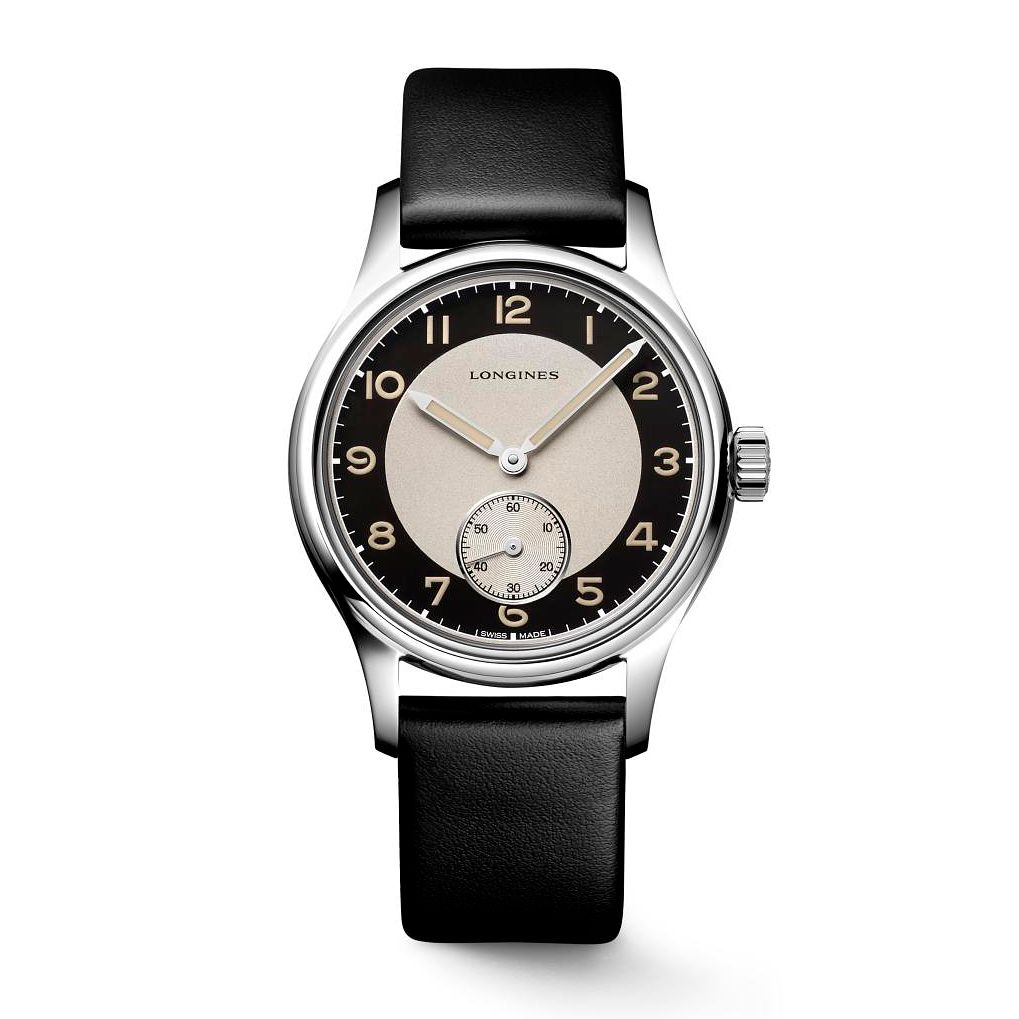 Longines Heritage Classic Tuxedo Black Leather Strap Watch - Product number 3866157