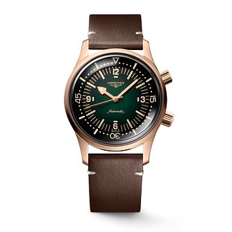 Longines Legend Diver Bronze Men's Brown Leather Strap Watch - Product number 3866173