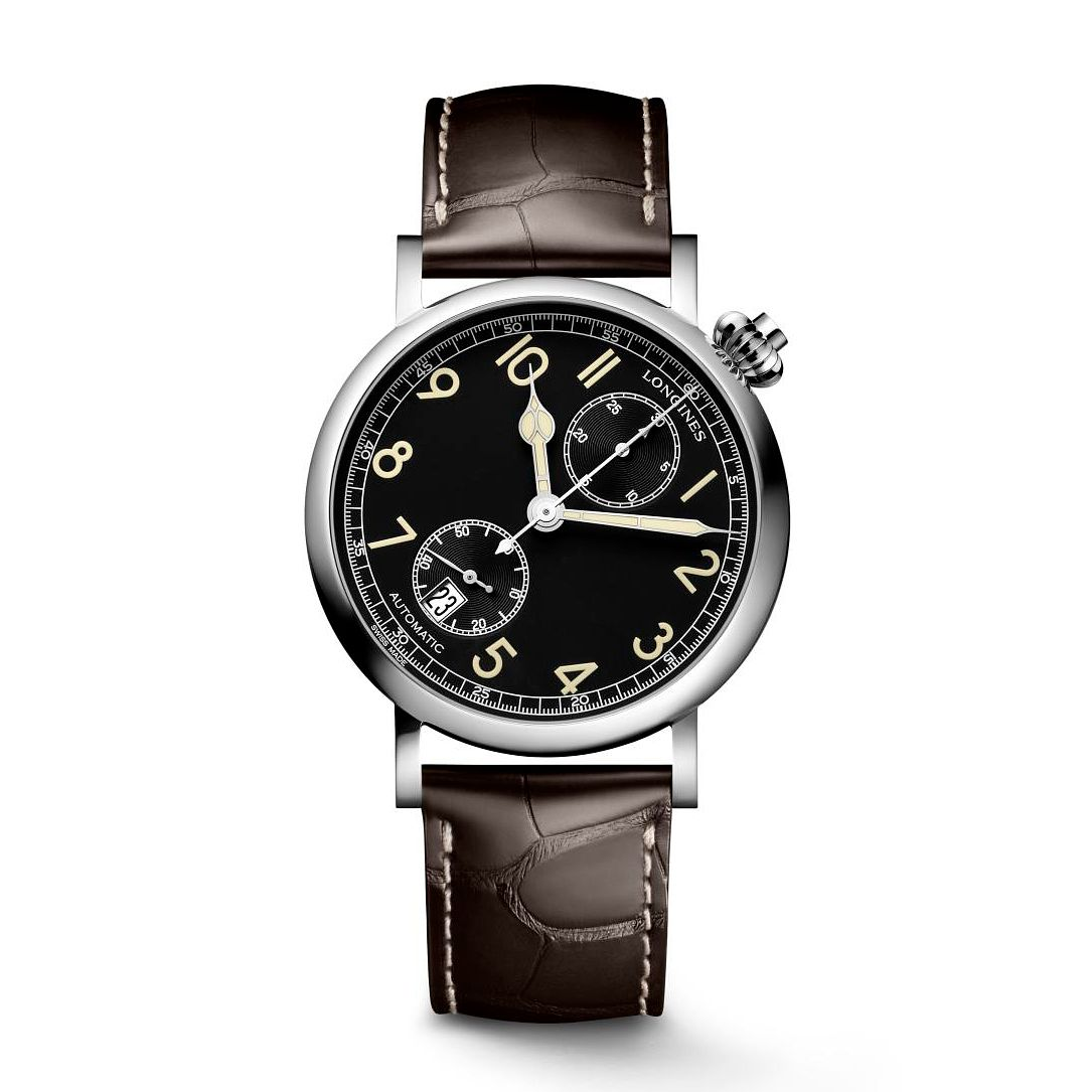 Longines Heritage Avigation Men's Brown Leather Strap Watch - Product number 3866378