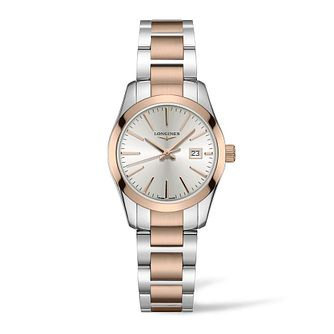 Longines Conquest Classic Ladies' Two Tone Bracelet Watch - Product number 3866513