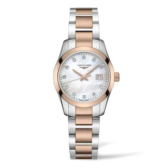 Longines Conquest Classic Diamond Ladies' Two Tone Watch - Product number 3866548