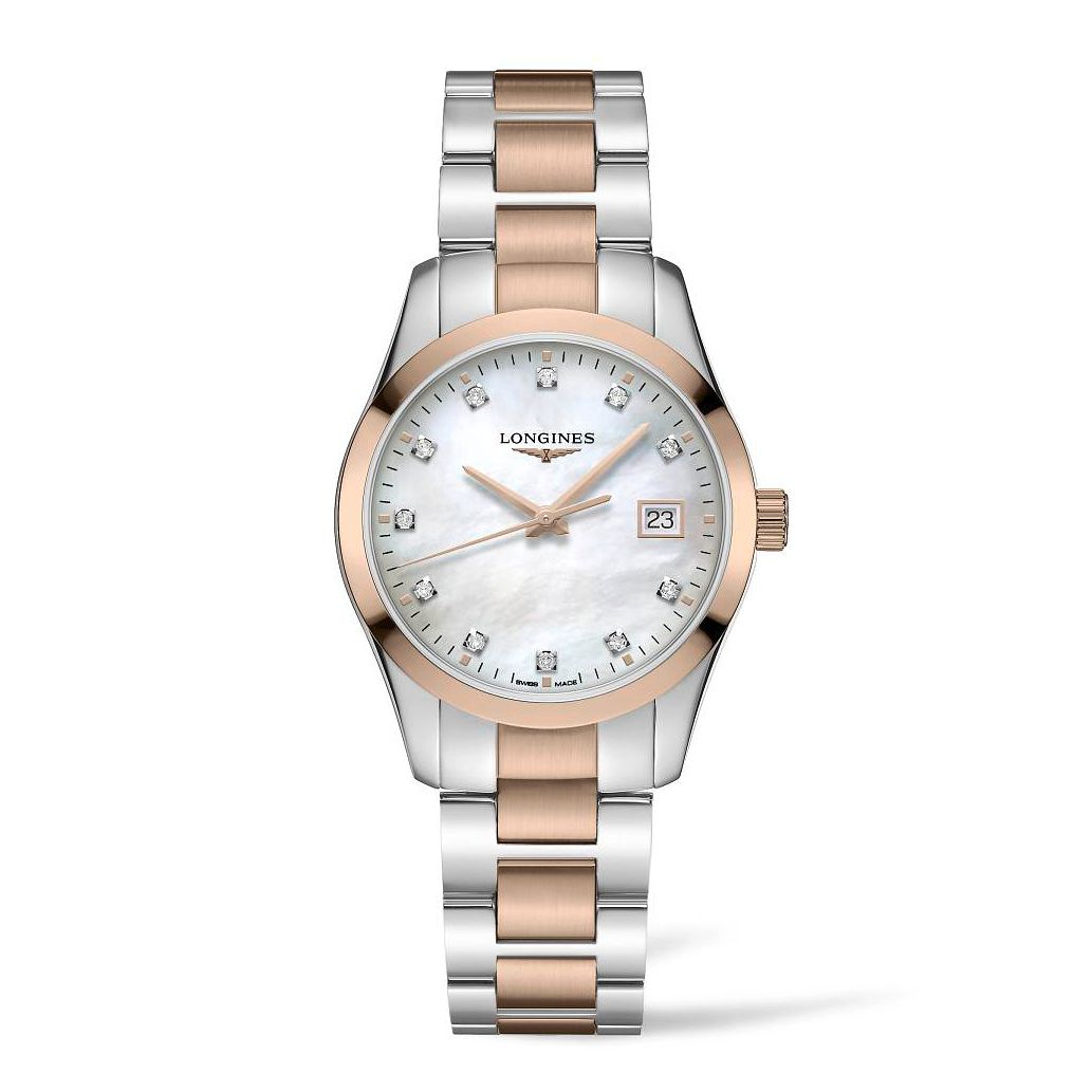 Longines Conquest Classic Diamond Ladies' Two Tone Watch - Product number 3866556