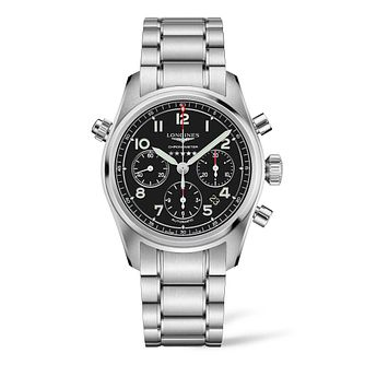 Longines Spirit Chrono Men's Stainless Steel Bracelet Watch - Product number 3867544