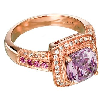 Le Vian 14ct Strawberry Gold 0.20ct Diamond & Amethyst Ring - Product number 3868338