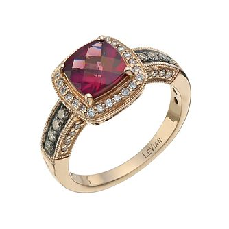 Le Vian 14ct Strawberry Gold 0.33ct Diamond & Rhodolite Ring - Product number 3869555