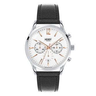 Henry London Men's Highgate Black Leather Strap Watch - Product number 3870065
