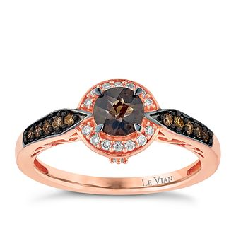 Le Vian 14ct Strawberry Gold Quartz & 0.18ct Diamond Ring - Product number 3873358