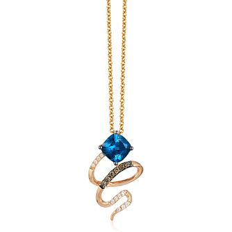 Le Vian 14ct Strawberry Gold Deep Sea Blue Topaz Pendant - Product number 3879186