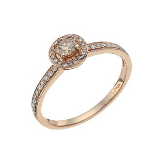 Le Vian 14ct Strawberry Gold White & Chocolate Diamond Ring - Product number 3880621