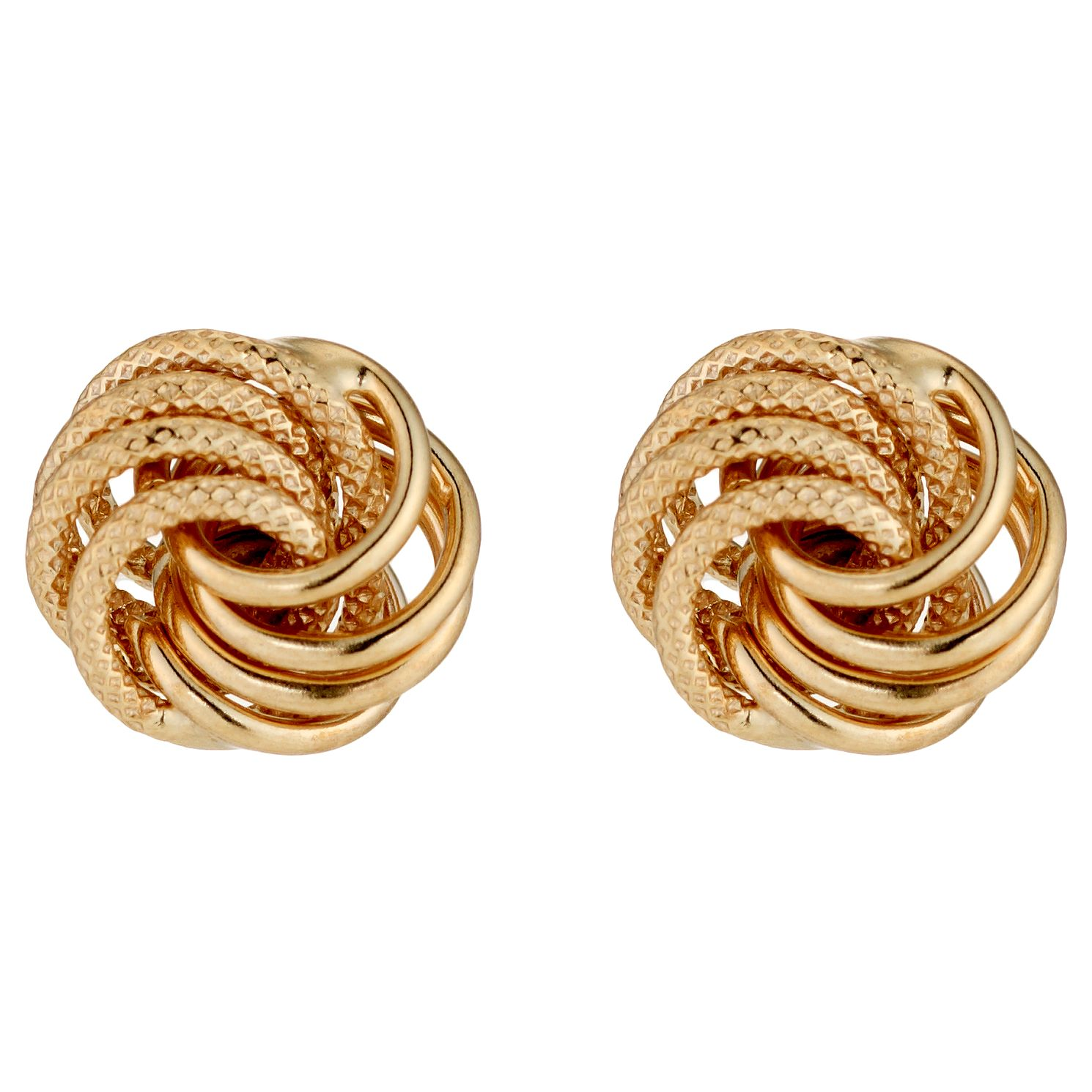 9ct Gold Small Twisted Knot Earrings - Product number 3881105