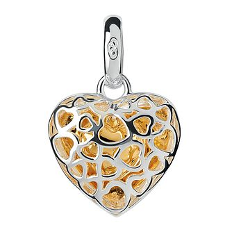 Links of London Silver & Gold-Plated Caged Heart Charm - Product number 3884945