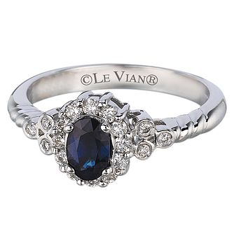 Le Vian 14ct Vanilla Gold Sapphire & 0.24ct Diamond Ring - Product number 3885925