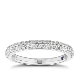 Vera Wang Platinum 0.37ct Diamond Wedding Band - Product number 3885968