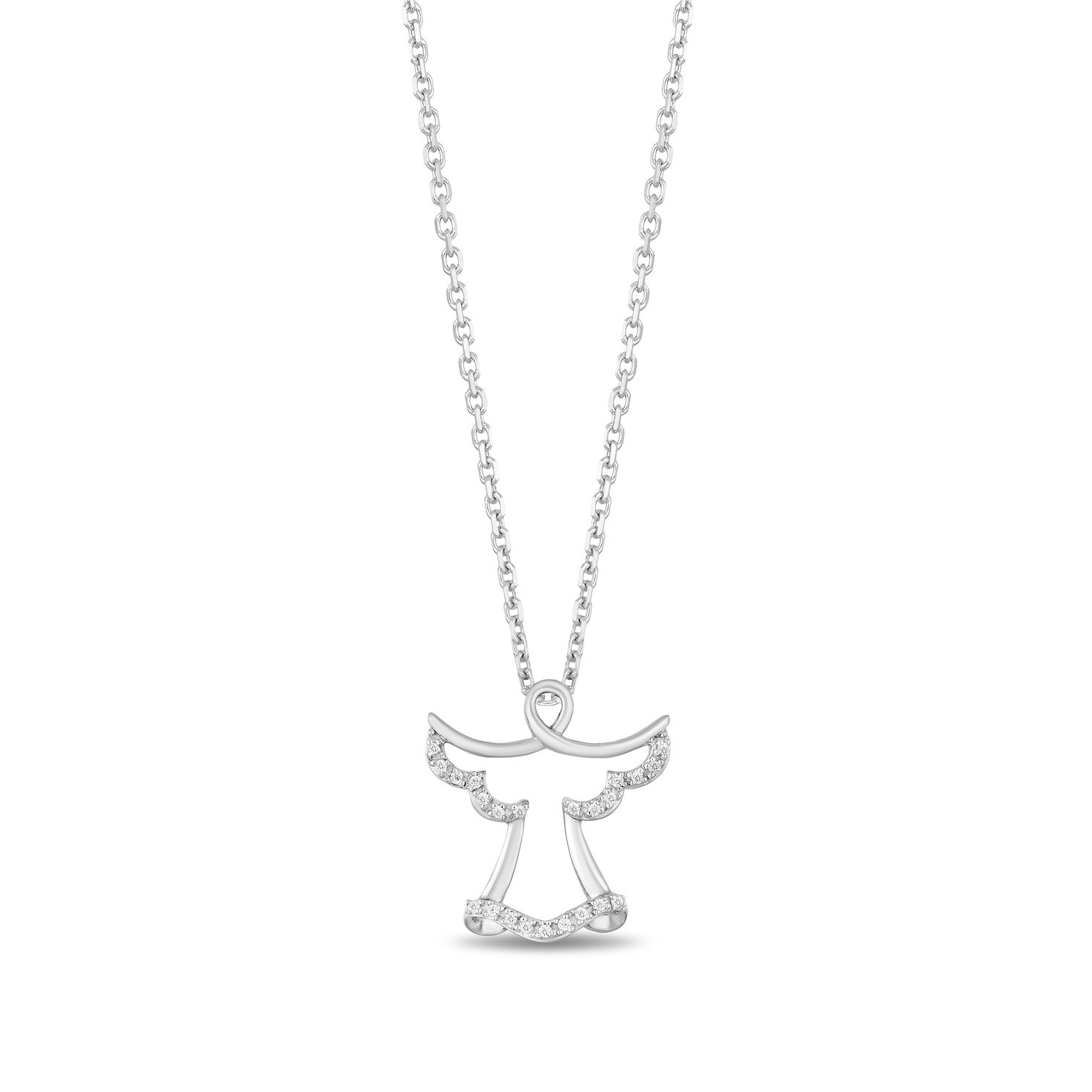 Hallmark Sterling Silver Diamond Angel Pendant - Product number 3886484
