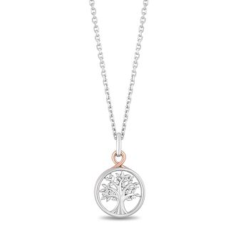 Hallmark Silver & 9ct Gold Diamond Tree of Life Pendant - Product number 3886506