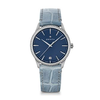 Zenith Elite Women's Stainless Steel Blue Buckle Watch - Product number 3886573