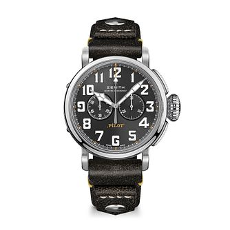 Zenith Pilot Men's Stainless Steel Black Buckle Watch - Product number 3886794
