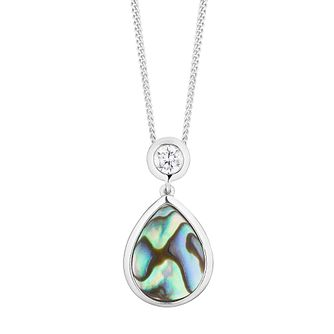 Silver And Abalone Pear Pendant - Product number 3886921