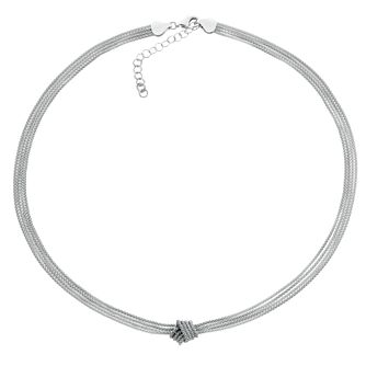 Silver Multi Strand Knot Necklace - Product number 3887081