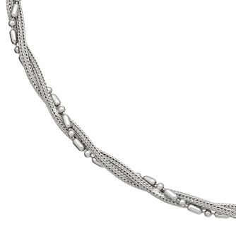 Sterling Silver Beaded Twist Necklace - Product number 3887138