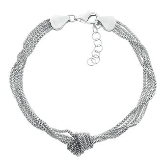 Silver Multi Strand Knot And Link Bracelet - Product number 3887421