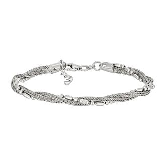 Silver Mesh Twist Braid Bracelet - Product number 3887448