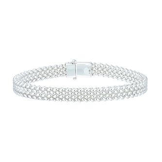 Sterling Silver Woven Bracelet - Product number 3887561