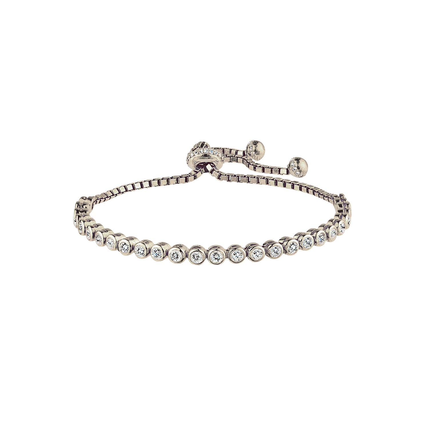 Silver Tennis Adjustable Bracelet - Product number 3887596