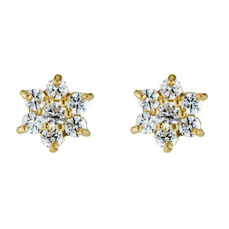 Gold Cubic Zirconia Earrings - Product number 3887715