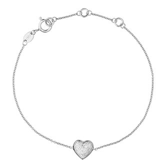 Links Of London Diamond Essentials Silver Heart Bracelet - Product number 3888002