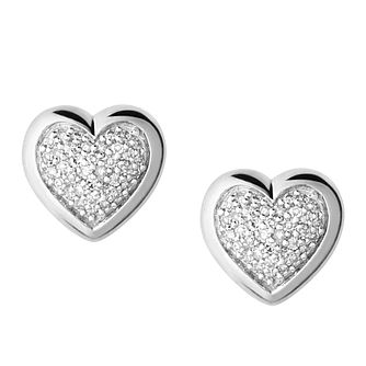 Links of London Diamond Essentials Silver Heart Studs - Product number 3888029