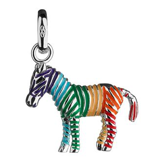 Links Of London Sterling Silver Rainbow Zebra Charm - Product number 3888681