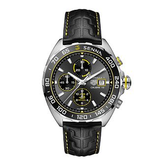 TAG Heuer Formula 1 Senna Black Leather Strap Watch - Product number 3888827