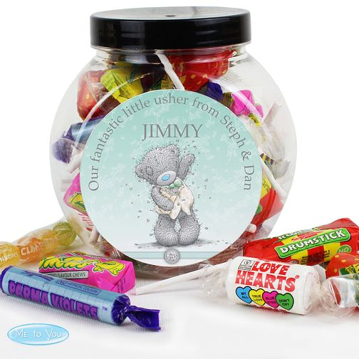 Personalised Me To You Blue Wedding Sweet Jar - Product number 3890864
