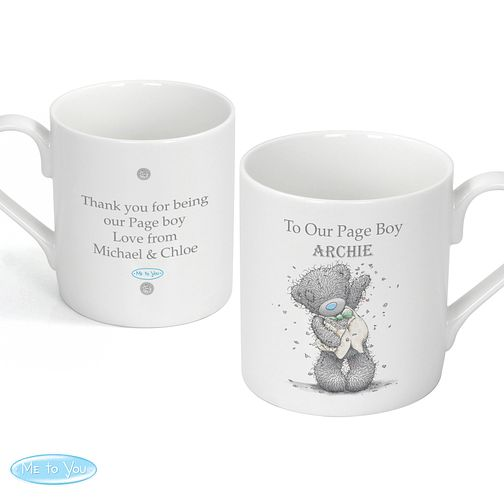 Personalised Me To You Blue Wedding Mug - Product number 3891070