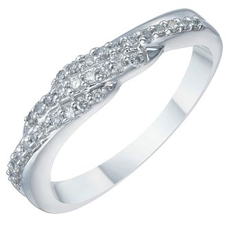 9ct White Gold 0.17ct Diamond Eternity Ring - Product number 3892069