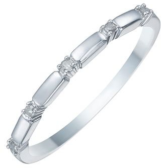9ct White Gold 0.15ct Diamond Eternity Ring - Product number 3893073